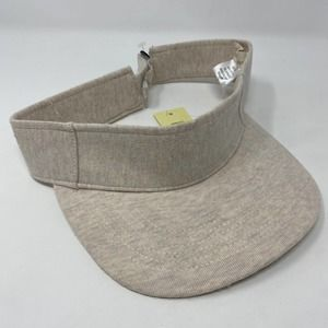 Collection 18 Cotton Visor Hat in Light Beige